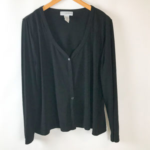 Sag Harbor Womens Button Front Knit Top